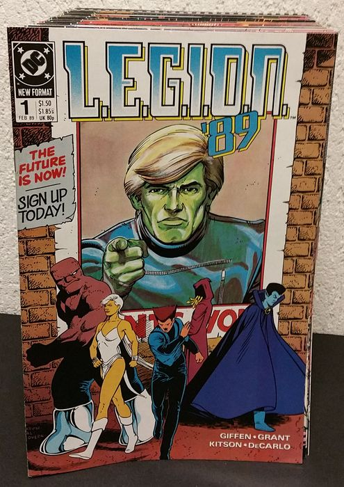 Preview of the first image of L.E.G.I.O.N. Range #1-70 - plus Annual #1 en 5 - Stapled - First edition - (1989/1994).