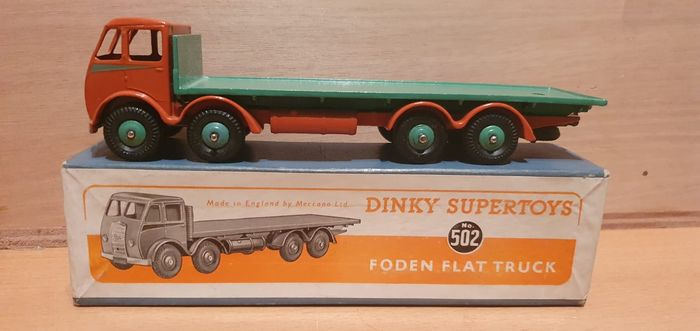 Preview of the first image of Dinky Toys - 1:50 - Dinky Toys nr. 502 Foden Flat Truck 1st issue cabNear-Mint - Supertoys.