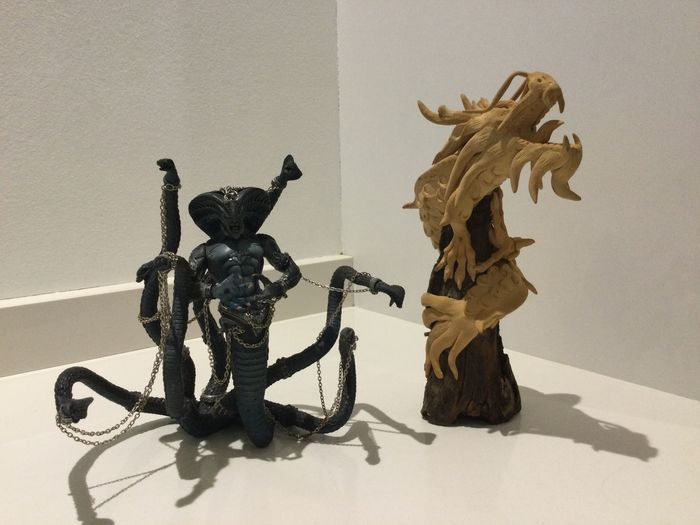 Preview of the first image of McFarlane Toys - Mc Farlane Spawn The Dark Ages: The Viper King Cobra(1999)+ 1 Wooden Dragon with R.