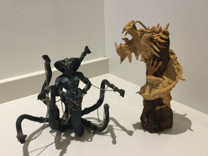 Image 2 of McFarlane Toys - Mc Farlane Spawn The Dark Ages: The Viper King Cobra(1999)+ 1 Wooden Dragon with R