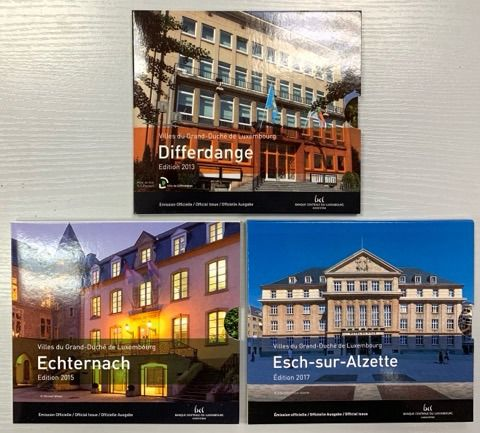 Luxembourg. Yearsets 2013 + 2015 + 2017 BU (3 pieces)