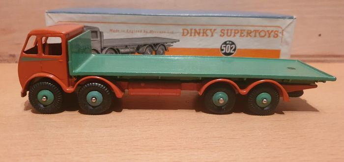 Image 2 of Dinky Toys - 1:50 - Dinky Toys nr. 502 Foden Flat Truck 1st issue cabNear-Mint - Supertoys