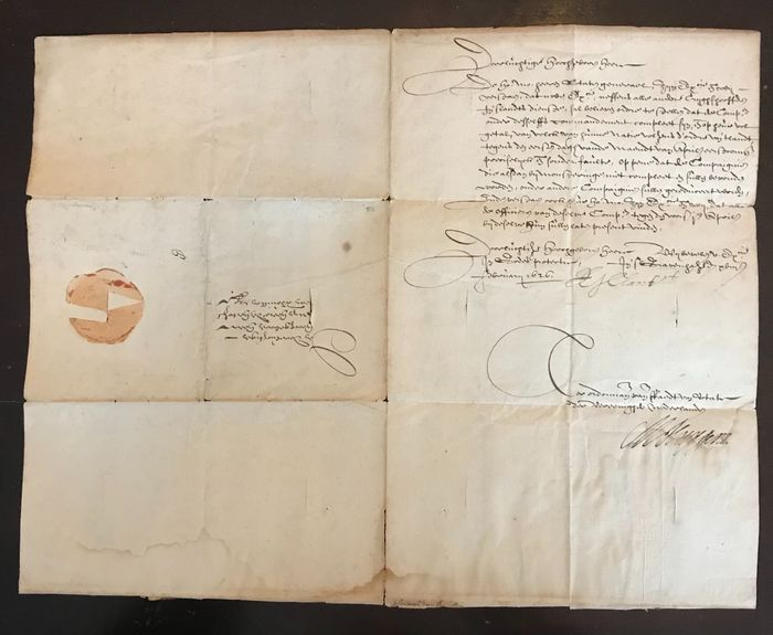 Preview of the first image of Maurits Huygens - letter on behalf of the Council of State to the Duke of Bouillon - 1626.