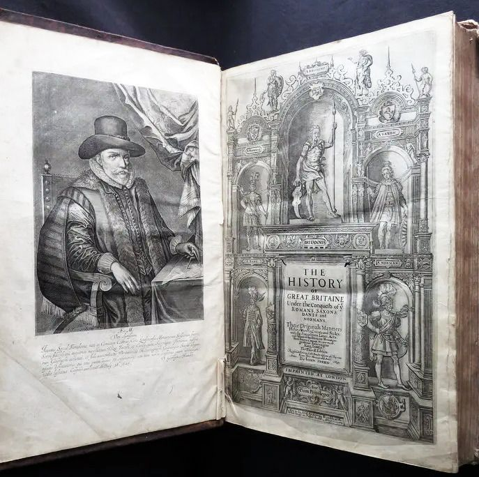 Image 3 of John Speed - History of Great Britaine - 1650