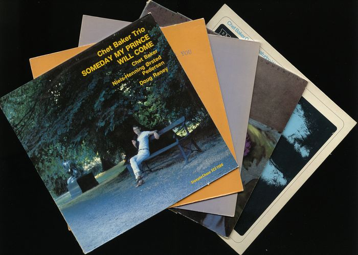 Chet Baker - Five great Cool-Jazz albums by this American jazz trumpeter and vocalist - Diverse titels - LP's - 1976/1991
