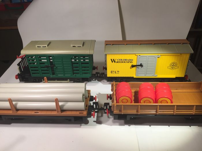 Image 2 of Playmobil/ LGB - Playmobil/LGB - 4101, 4104, 4105, 4122 - Wagons with cargo - 1980-1989 - Germany