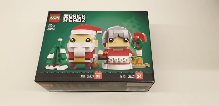 Preview of the first image of LEGO - Brickheadz - 40274 - Figure Mr Claus en Mrs Claus.