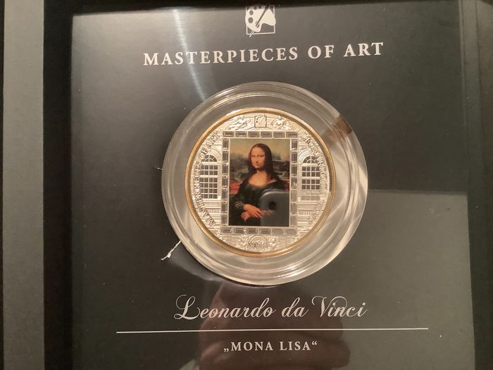 Cook Islands. 20 Dollars 2016 Proof Master of art Mona Lisa - 3 Oz