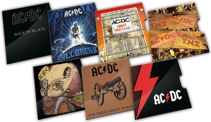 Australien. 20 Cents 2021 BU 'ACDC' (7 different)