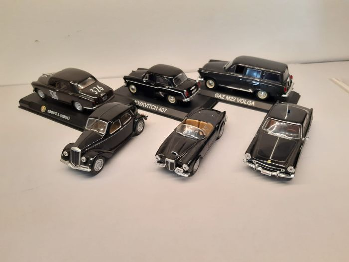 Preview of the first image of Bymetro sales promotion,DeA - 1:43 - 6 x Black Car Models Collection.