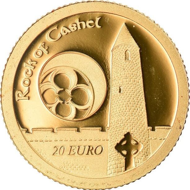 Ireland. 20 Euro 2013 'Rock of Cashel - Irish Harp' - rare