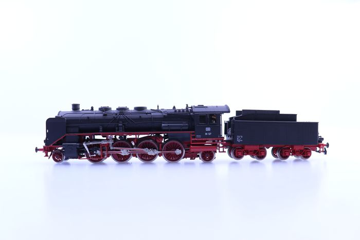 Preview of the first image of Rivarossi H0 - 1345 - Steam locomotive with tender - BR 39 - DB.