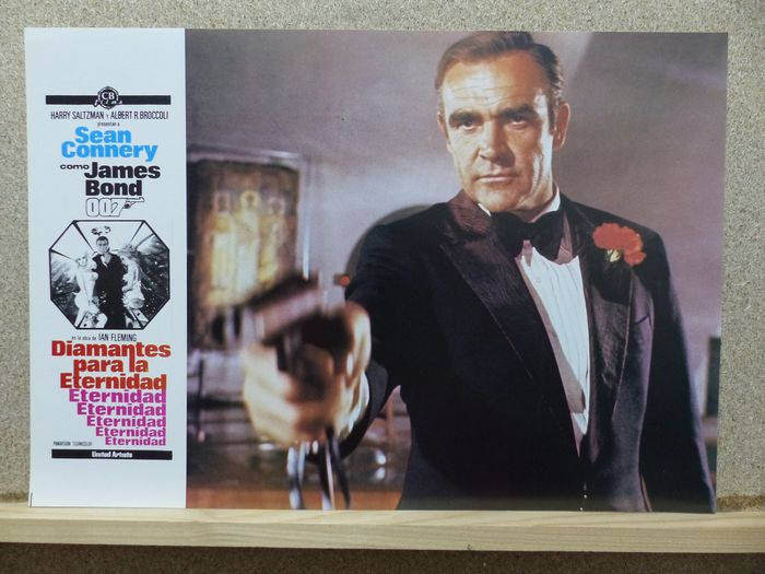 James Bond 007: Diamonds Are Forever - Sean Connery - Foto, Lobby kaart, Poster Original Spanish release Complete Set of 12 - Plus Bonus: Connery Non 007 Movies (see images)