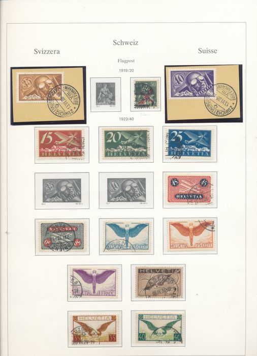 Switzerland 1909/1963 - Advanced collection in two SAFE albums