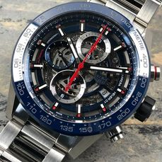 TAG Heuer - Carrera Calibre Heuer 01 Skeleton Chronograpgh Automatic - CAR201T.BA0766 - Homme - 2020