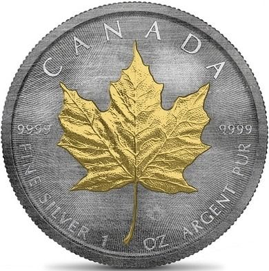 Canada. 5 Dollars 2019 'Maple Leaf - Antique Gold' - with Box and Certificate of Authenticity
