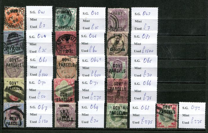 Great Britain 1882/1901 - Collection of official stamps - Stanley Gibbons