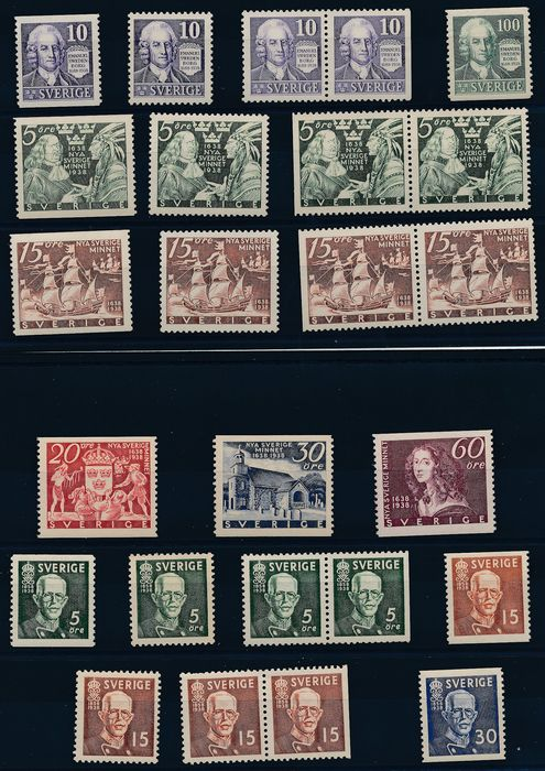 Suède 1938 - Complete vintage with all issues from that period