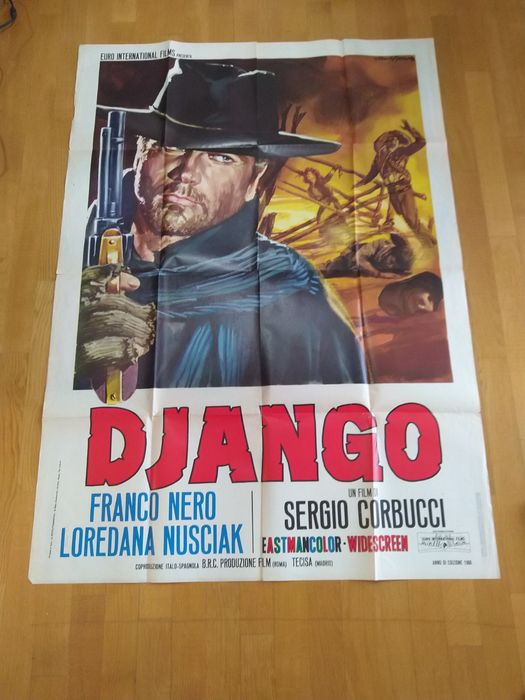 Django (1966) - Franco Nero - Poster, Original Italian Cinema release - 140x100 cm / 2F - First Edition 1966