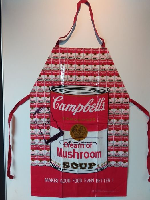 After Andy Warhol ( 1928 - 1987) - Campbell's soup apron
