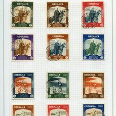 Cyrenaica italiana 1910/1943 - stamps of the period - used and mounted on handcrafted sheets
