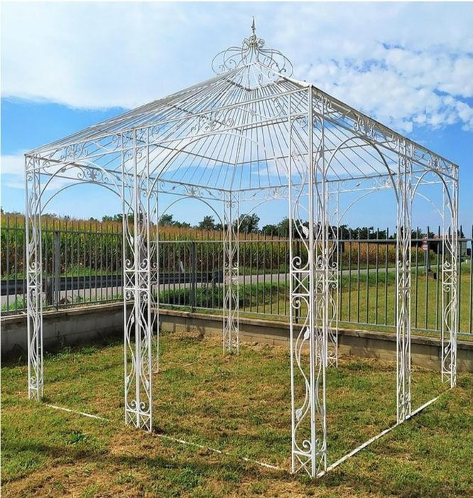 Gazebo, 300 x 300 cm. - Ferro (ghisa/battuto) - Second half 20th century