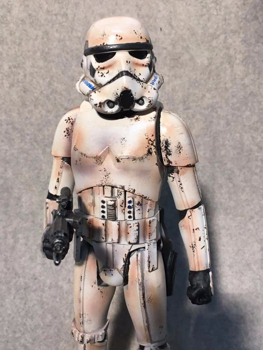 Star Wars - Figurine(s), Stormtrooper Model on wooden base -  Handpainted - 30 cm