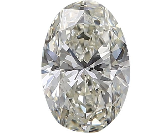 1 pcs Diamant - 0.42 ct - Oval - J - VS2