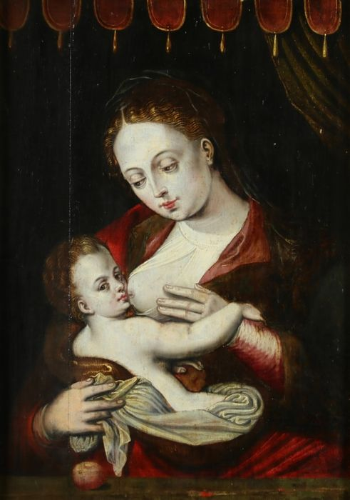Important Italian Old Master 16thC - Madonna and Child