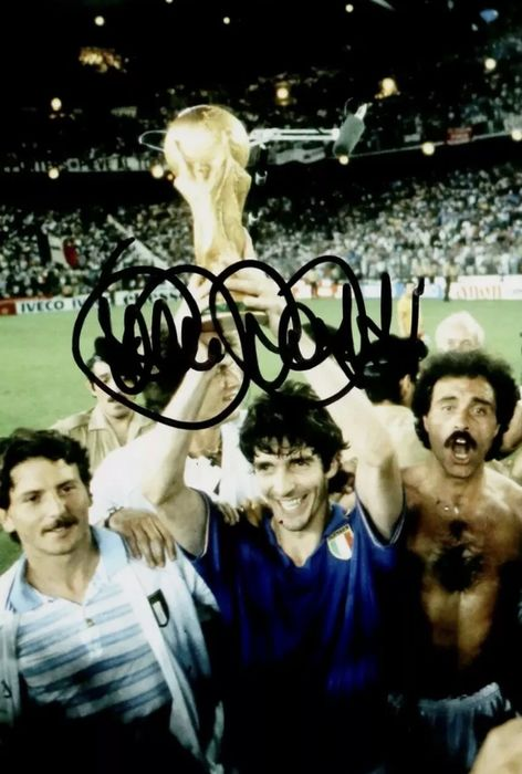 Italy - Paolo Rossi - Autograph, Photograph