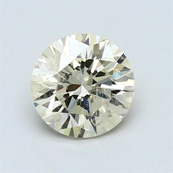 1 pcs Diamond - 1.00 ct - okrągły - jasnożółty - SI2 - NO RESERVE PRICE!