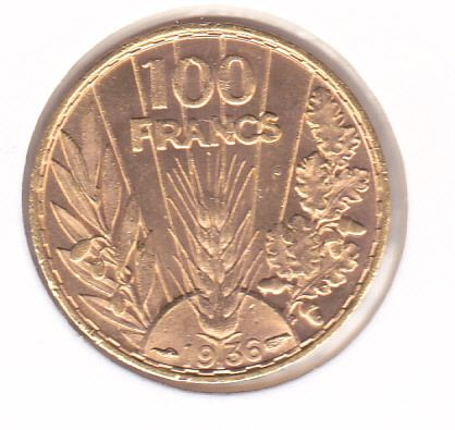 France. Third Republic (1870-1940). 100 Francs 1936 Bazor