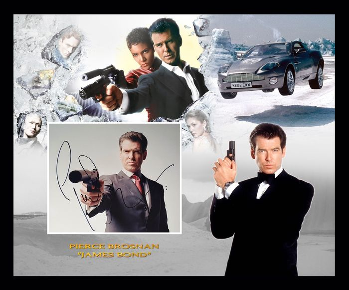 James Bond 007: Die Another Day - Pierce Brosnan - Foto, Handtekening, Signed, Mounted & Framed, with Coa