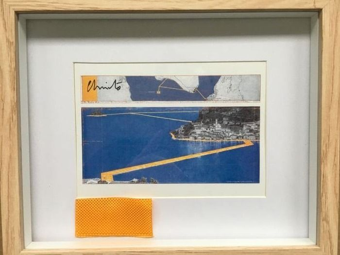 Christo and Jeanne Claude - The Floating Piers, handsigned (framed) - 2016