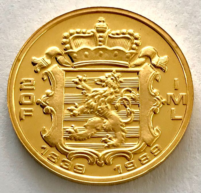 Luxembourg. 20 Francs 1989 - 150th Anniversary of the Grand Duchy  Jean