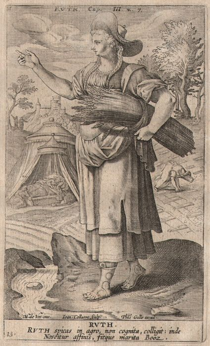 Johannes Collaert (1566-1628) - Ruth- Celebrated Women of the Old Testament