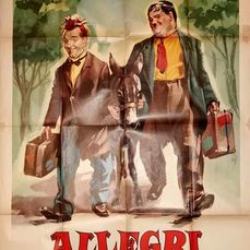 Way Out West - Stan Laurel & Oliver Hardy - Cartaz, Original Italian Cinema re-release 1964 - Manifesto 140x100 cm - Good Condition