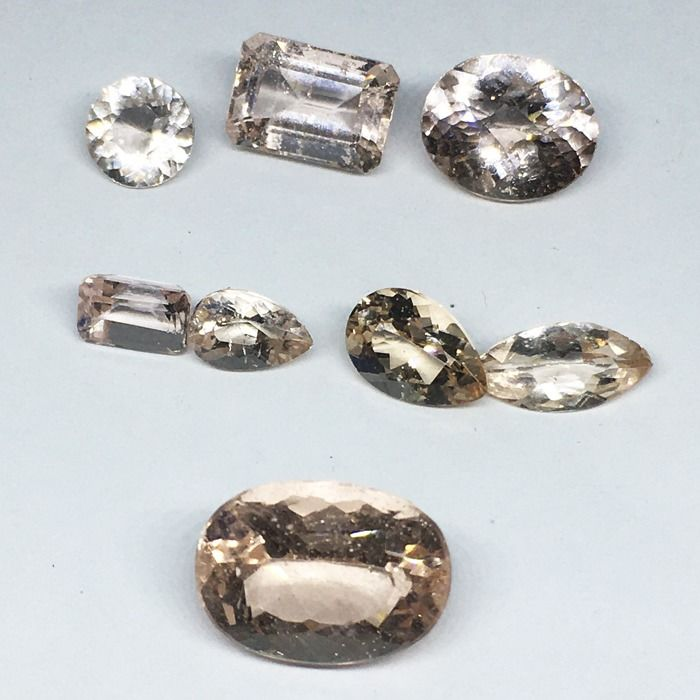 8 pcs melocotón Morganita - 12.75 ct