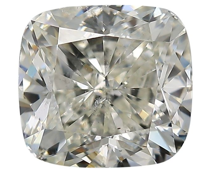 1 pcs Diamant - 1.50 ct - Coussin - K - SI2
