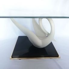 Signed Jansen - Table d'appoint avec figurine de cygne