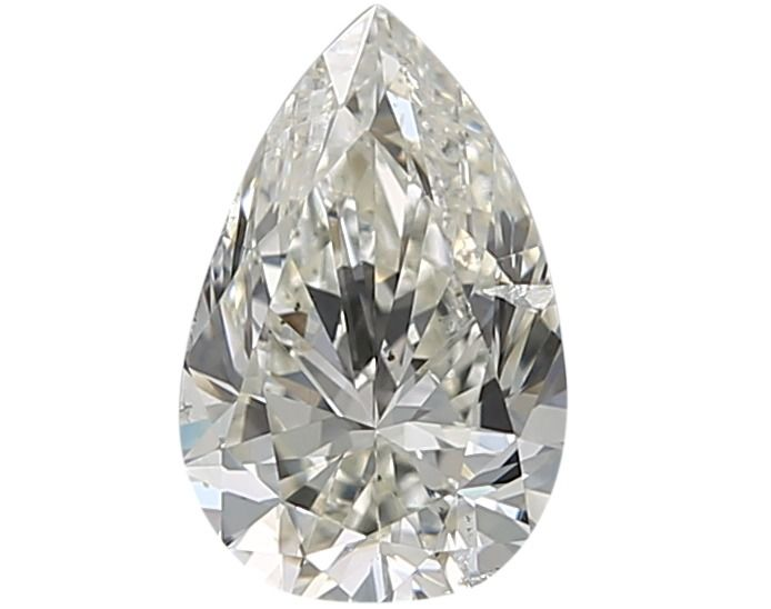 1 pcs Diamant - 0.72 ct - Poire - I - SI2