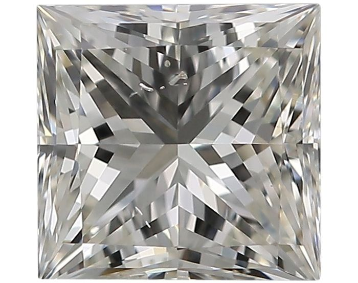 1 pcs Diamant - 0.76 ct - Princesse - J - SI2