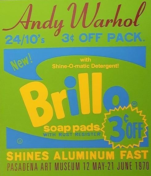 Andy Warhol (after) - Brillo soap pads - Exhibition Poster - reprinted