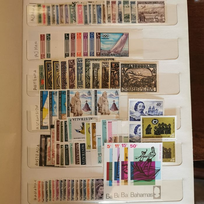 wereldzegels 1920/1970 - Collection of world stamps MNH