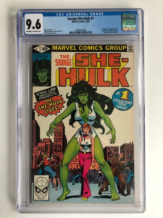 The Savage She-Hulk #1 - Origin & 1st Appearance Of She-Hulk (Jennifer Walters) - Origin Hulk Retold - CGC Graded 9.6 - Extremely High Grade! - Red Hot Book!! - Broché - EO - (1980)