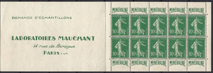 Frankrijk - CARNET 188-C1 MINERALINE 1926 - New with no hinge and impeccable condition