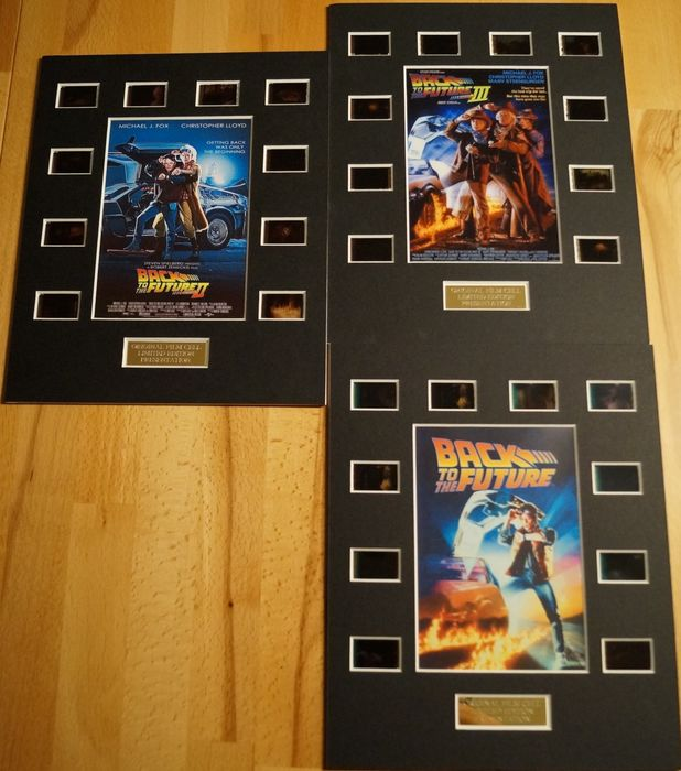 Back to the Future - Set of 3 - The Trilogy - Film Cell Displays