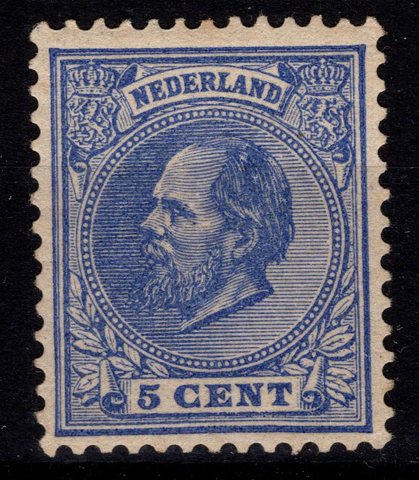 Netherlands 1888 - King Willem III with plate error - NVPH 19L P