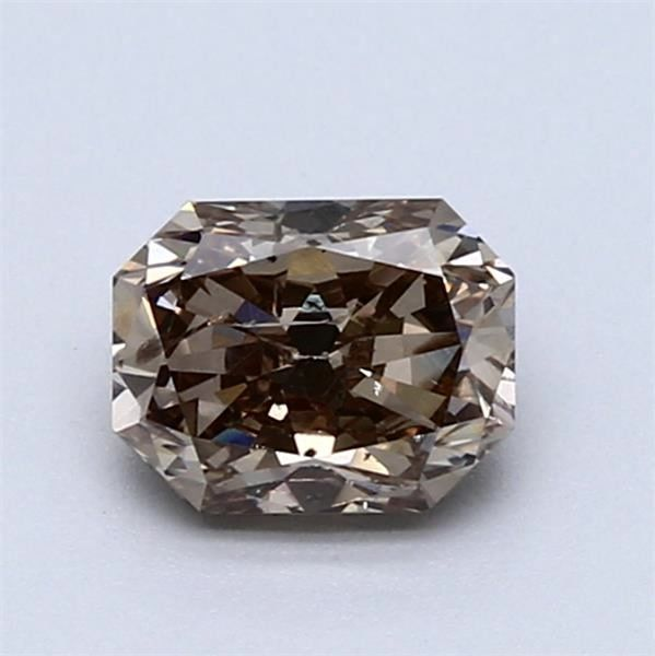 1 pcs Diamant - 1.01 ct - Radiant - Fancy Intense Brownish Grey - SI2- NO RESERVE PRICE!
