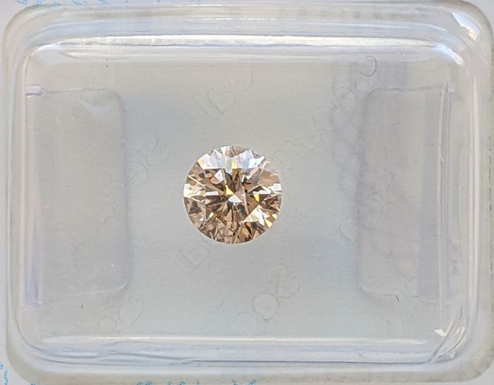 Diamant - 0.51 ct - Brillant - Jaune brunâtre clair fantaisie - SI2, No Reserve Price